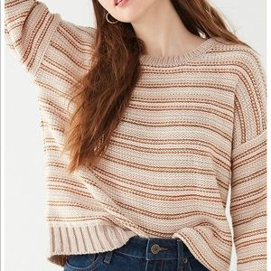 Hallie Striped Crew-Neck Sweater
